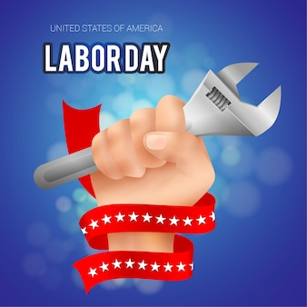 現実的な米国の労働者のイラストレーション