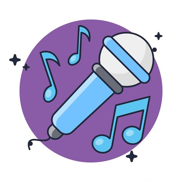 Музыка микрофон караоке изолированные