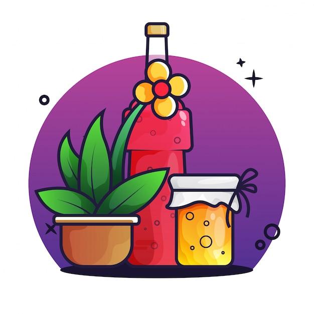 ジュースと蜂蜜