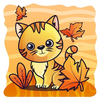 Иллюстрация вектора градиента кота