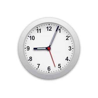 Реалистичная иллюстрация настенных часов. контролируйте время.