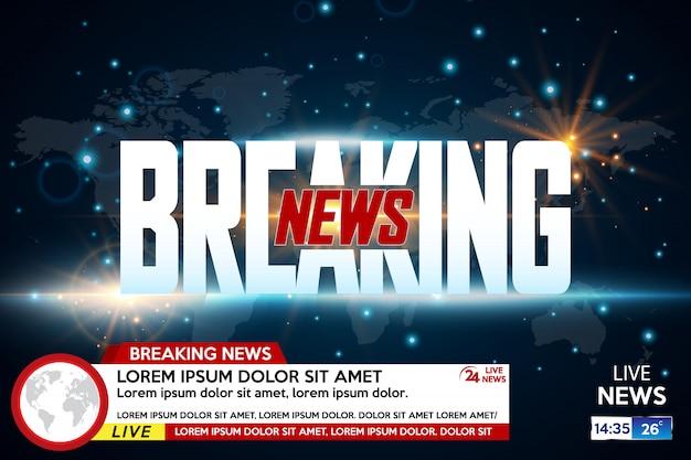 ニュース速報の背景スクリーンセーバー