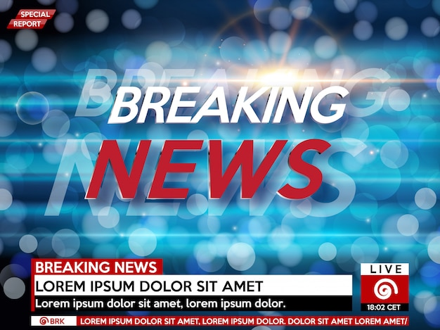 Фон заставки на последние новости.