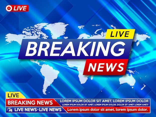 ニュース速報のスクリーンセーバー。