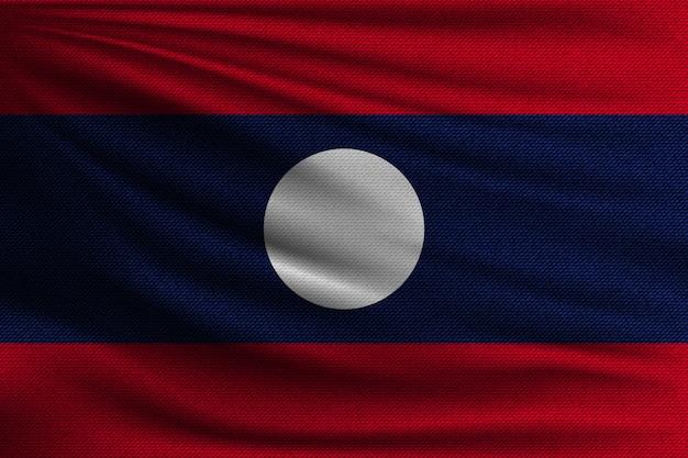 ラオスの国旗。