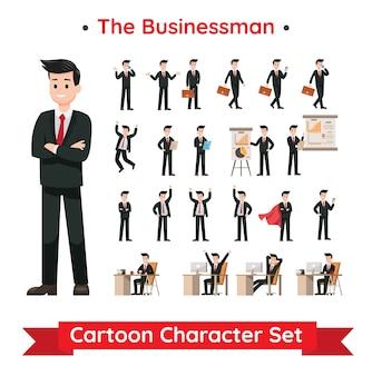 ビジネスマンのキャラクターデザインのセット
