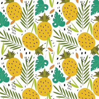 熱帯のパイナップルの背景