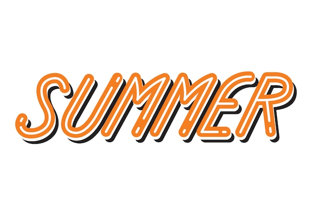 夏のタイポグラフィコミックスタイル