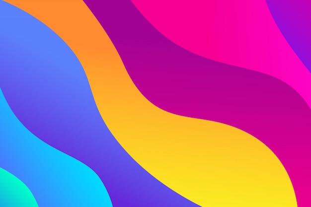 流体の形状による抽象的な勾配の背景