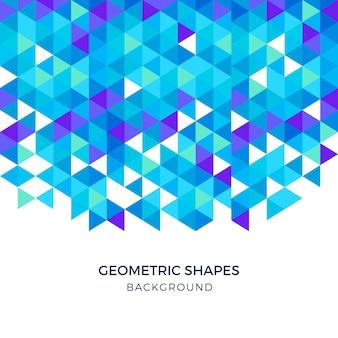 青い幾何学的形状の三角形の背景