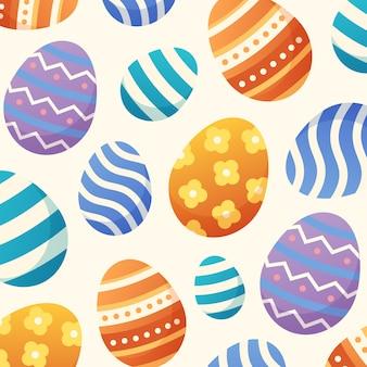 カラフルなイースターの日の卵柄の背景