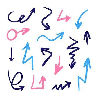 手描きの矢コレクション