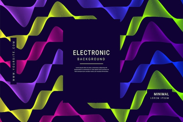 デジタルテクノロジーの波線メッシュの幾何学的背景