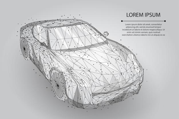 Абстрактная линия месива и автомобиль высокой скорости движения точки