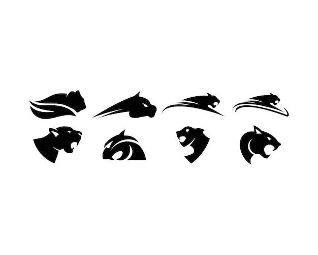 ヒョウのロゴセット