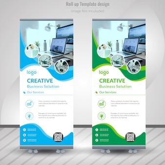 企業のロールアップバナーデザイン