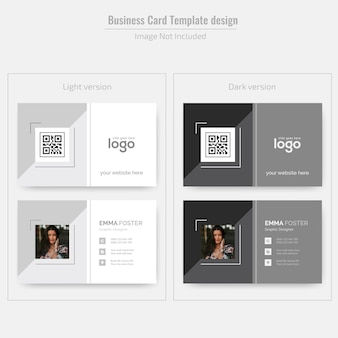 Персональный дизайн визитной карточки