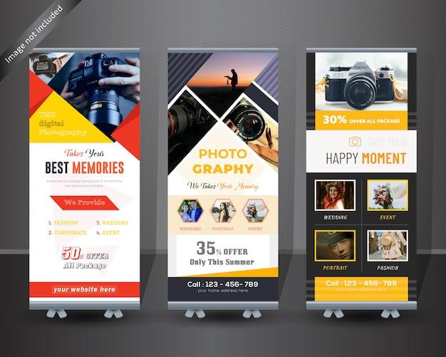 写真ロールアップバナーデザイン