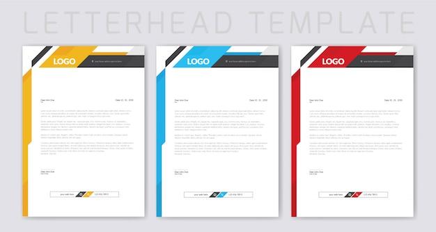 カラフルなビジネスレターヘッドデザイン