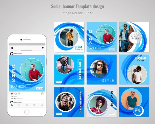 ファッション抽象的なセールスソーシャルウェブバナー