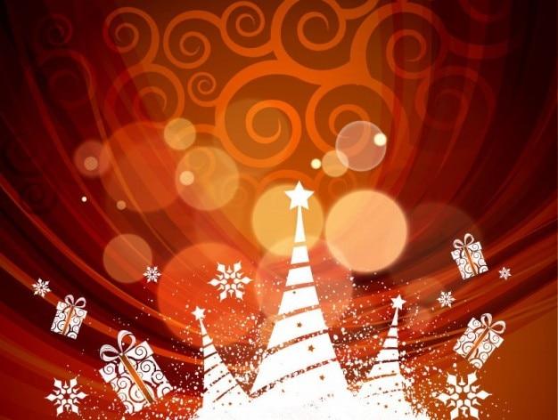 抽象的なクリスマス背景、ベクトル、イラスト