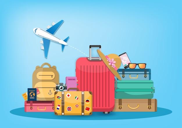 飛行機および荷物の付属品