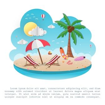 Море в летнее время. вид на фоне дизайна.