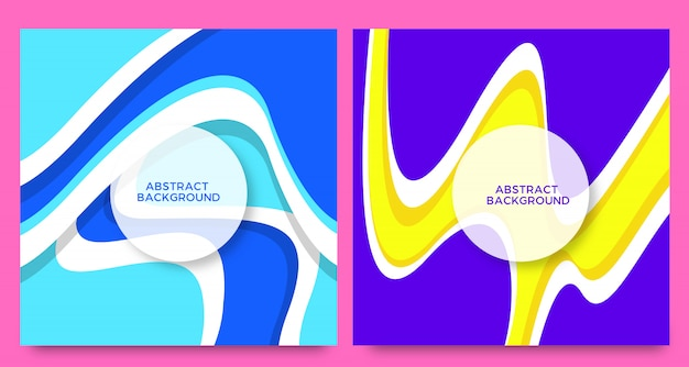 Абстрактный творческий фон набор