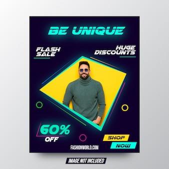 Быть уникальным стильным плакатом продажи