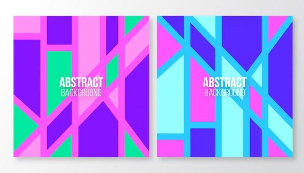 Креативные абстрактные шаблоны разных форм