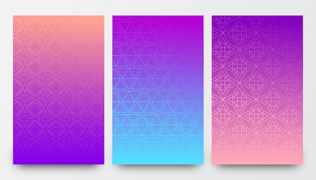 抽象的なビンテージパターン背景デザイン