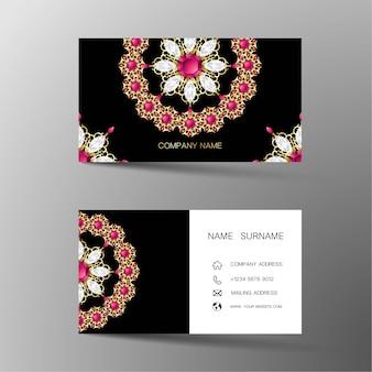 Роскошная визитная карточка. вдохновленный бриллиантами.