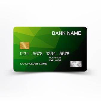 現代のグリーンデビットカード。