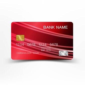 赤いクレジットカード。