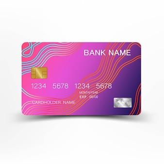 豪華なクレジットカード。