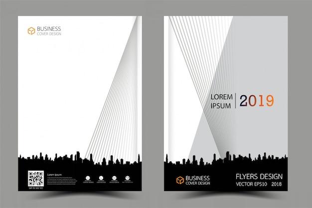 ビジネスのパンフレットチラシのモダンなデザイン。