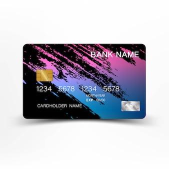 カラフルなクレジットカードのデザイン。