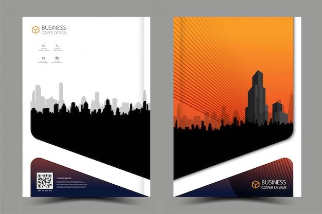 ビジネスパンフレットチラシモダンなデザイン。