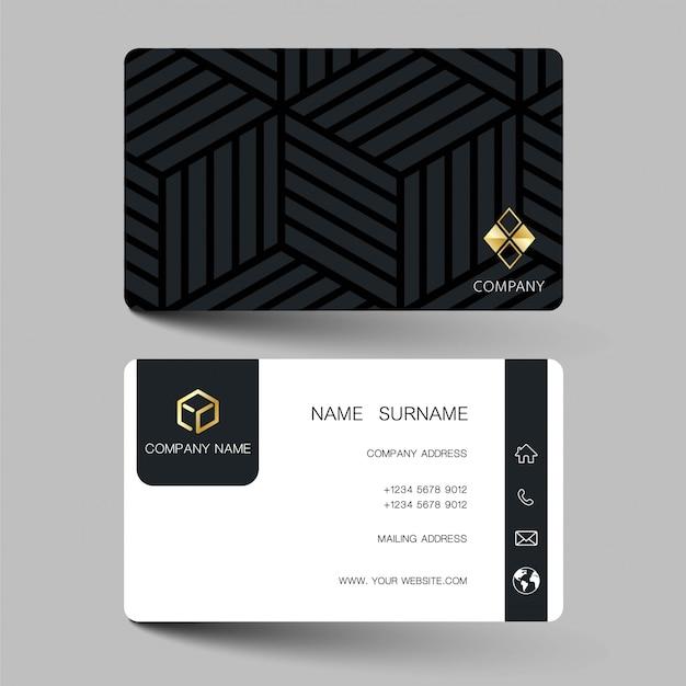 Иллюстрация дизайн визитной карточки
