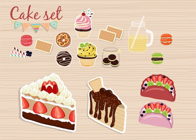 Разноцветные сладкие пирожные. торты на день рождения