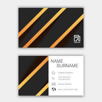 Современный дизайн шаблона визитной карточки.