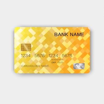 光沢のあるプラスチック製の豪華なクレジットカードのデザイン。