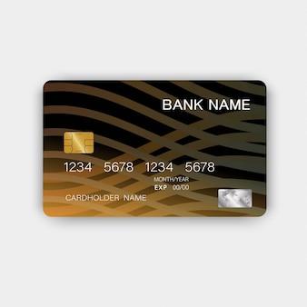 クレジットカードのテンプレートの概要。カラフルな光沢のあるプラスチックスタイル