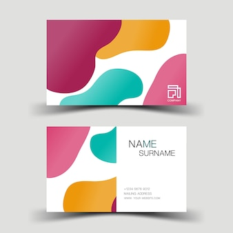 Красочная современная визитная карточка