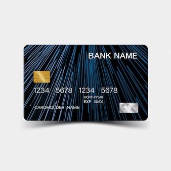 Шаблон кредитной карты синий