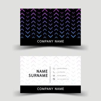 紫のグラデーション名刺デザイン。