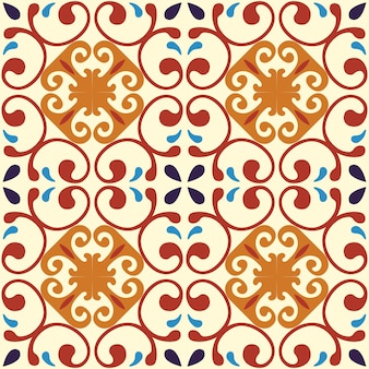タイルのシームレスなパターンデザイン。