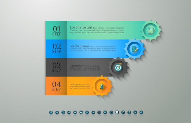 デザインビジネステンプレートオプションインフォグラフィックグラフ要素。
