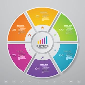 Элементы инфографики диаграммы цикла для представления данных.