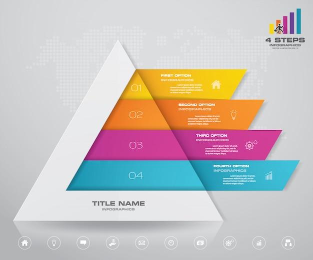 Пирамида со свободным пространством для текста на каждом уровне.